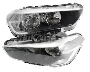 BMW X1 SERIES F48 HALOGEN HEADLIGHT SET LEFT AND RIGHT SIDE GENUINE OEM NEW