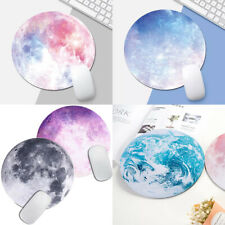 Space Gaming Mouse Mat Pad Non-Slip Circle Mousepad Designs For Computer PC Desk