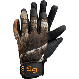 Glacier Glove Elite Shooting Full Finger Gloves - Realtree Edge