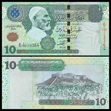 ∙ Pick 56 ∙ Gem Uncirculated Pmg 66 Epq 1989 Cheap Price Libya ∙ 10 Dinars ∙ Nd