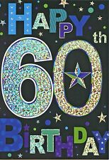 MALE HAPPY 60TH BIRTHDAY CARD 1STP&P
