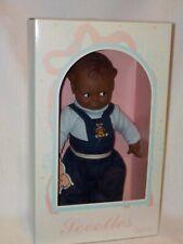 "11"" Vinyl Cameo (Jesco) Kewpie Black Scootles Boy Doll In Box"