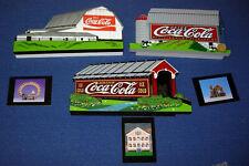(3)  Coca-Cola Shelia's Collectible Historic Miniatures & Trading Cards    H044