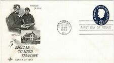 United States Of America Usa 1962 5c Embossed Postage Pre-Paid First Day Issue