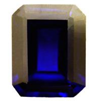 Lab Created Rich Vivid Blue Sapphire AAA+ Emerald Cut Loose Gem(5x3mm - 13x11mm)