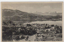 VINTAGE POSTCARD WITH A VIEW OVER WORTHERSEE CARINTHIA AUSTRIA UNPOSTED.