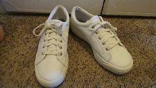 Rare White Leather Keds Platform Stretch Sneakers Tennies  Sz 8 Shoes WF9437M