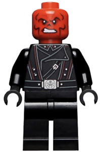 Lego New Minifigure Iron Man Red Skull Black Belt Super Hero Marvel Fig