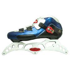 """3-125mm aluminum inline skate frame. 12.75"""". 195mm mount. Size 9.5"""