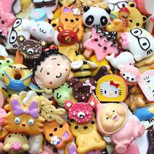 20 pcs mixed Wholesale Lot Cartoon Figures Cute Kawaii Flatback Resin Cabochons