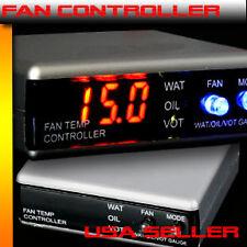 Universal Fan Controller Water oil Temperature Volt Gauge