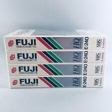 x4 Fuji E-240 Fine Grain Beridox HQ VHS Video Cassette Tape PAL SECAM New Sealed