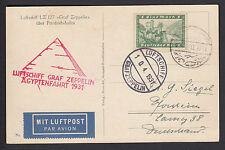 Zeppelin Ägyptenfahrt 1931 Bordpost Zeppelinansichtskarte nach Kairo (S11563)