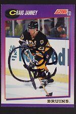 Craig Janney Boston Bruins Autographed 1991 Score #253 Hockey Card JSA 16H