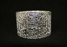 Silver Filigree Cut Fancy Stretch Bracelet - NEW