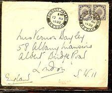 MALAYA KEDAH (P1012B) 1935 4CX2 1932 COVER TO LONDON