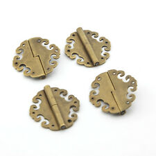 4pcs 40x40mm Antique Brass Auspicious Clouds Decorative Hinges For Jewelry Box