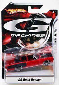 Hot Wheels '69 Road Runner G Machines Series #M2369 New NRFP 2007 Red 1:50