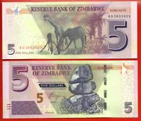 ZIMBABWE  NEW ISSUE UNC HYBRID BANKNOTE 2$ 2019 YEAR