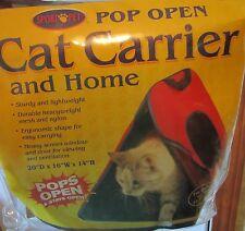Sport Pet CAT CARRIER Home pop open red blue pets 25 lbs factory sealed NEW nip