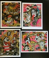 8.5x11 Set #5 MYTH Signed prints By Frank Forte Pop Surrealism Cartoon Dark Art