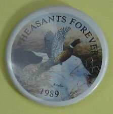 1989 Pheasants Forever Conservation Club Membership Button...Free Shipping!