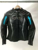Spada Ladies Leather Sports Motorcycle Jacket sport race - Black - Blue size 14