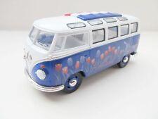 + VW T1 Bus in 1:24  blau, mit Holland Tulpen   NEU