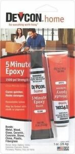 NEW DEVCON 20545 CLEAR 2 PART HIGH STRENGTH 5 MIN EPOXY GLUE WATERPROOF ADHESIVE