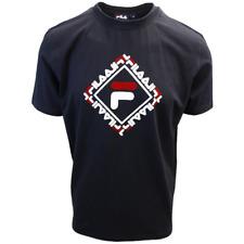 FILA Men's Black Square S/S T-Shirt (S03B)