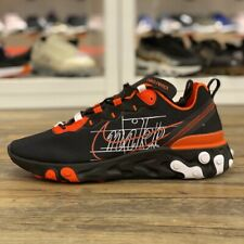Nike React Element 55 Script Swoosh Gr.44,5 Sneaker schwarz CK9285 001 Herren Sc