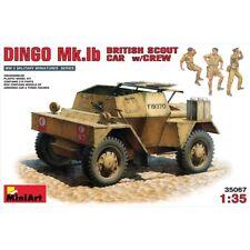 Miniart 35067 británico Scout Car Dingo Mk. ib con Kit de modelo de escala 1/35 de tripulación