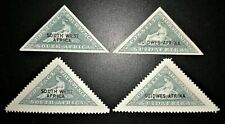 South West Africa 1927-27, Perf & Imperf, 4d Triangles, MH/MLH, Superb
