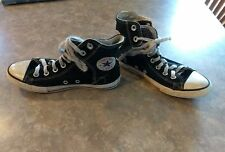 Youth CONVERSE size 3 Black Chuck Taylor All Star High Top Shoes AFO SMO BRACE