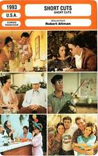 FICHE CINEMA : SHORT CUTS - MacDowell,Moore,Robbins,Downey Jr,Altman 1993