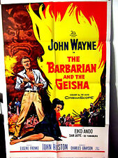 Barbarian and the Geisha FINE Orig. US One Sheet movie poster JOHN WAYNE folded