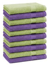 Betz 10 Toallas de cara 30x30 PREMIUM 100% algodón en verde manzana y morado