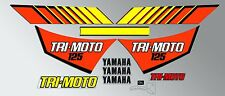 YAMAHA 1983 YT125 TRI-MOTO DECAL GRAPHIC KIT YT 125 THREE WHEELER