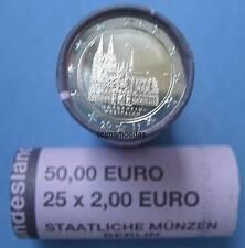 Deutschland 2 Euro Rolle mit 25 x 2 € Gedenkmünzen 2011 NRW Berlin commemorative