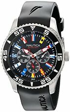 Nautica Men's N12626G NST 07 Flags Classic Stainless Steel Wirst Watch