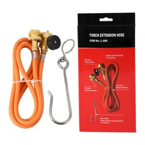 Welding Torch Hose CGA600 1.5M (5Ft) Hose and Belt Hook for MAPP Torch Exte D8T3