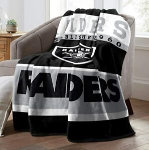 Las Vegas Raiders Fans Soft Fleece Warm Throw Blanket for Couch Sofa Bed Chair
