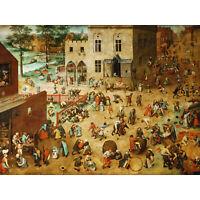 Pieter Bruegel The Elder Childrens Games Large Canvas Art Print