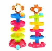 teeny fish My First Swirl Ball Ramp Educational Toy Rolling Ball Stacker Tower