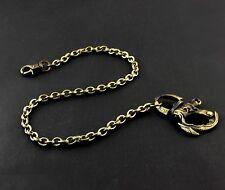 "Universal ! Mens Brass Vintage Biker Wallet Chain with Hook 22"""