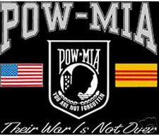 POW-MIA YOU ARE NOT FORGOTTEN T-SHIRT MEDIUM