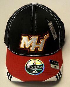 NBA Miami Heat Adidas Official Team Headwear Climalite Curve Brim Cap Hat NEW!