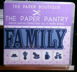 ~::~THE PAPER PANTRY ~ WORD BOOKS ~ SPECIAL EDITION CUTTING FILES VOL 4~::~