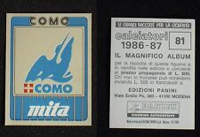 ***CALCIATORI PANINI 1986/87*** SCUDETTO COMO N.81 - NUOVO!!!
