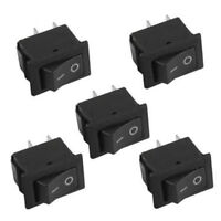 5Pcs Waterproof 12V On/Off Rectangle Rocker Switch w/ Cover Car Dashboard Nice